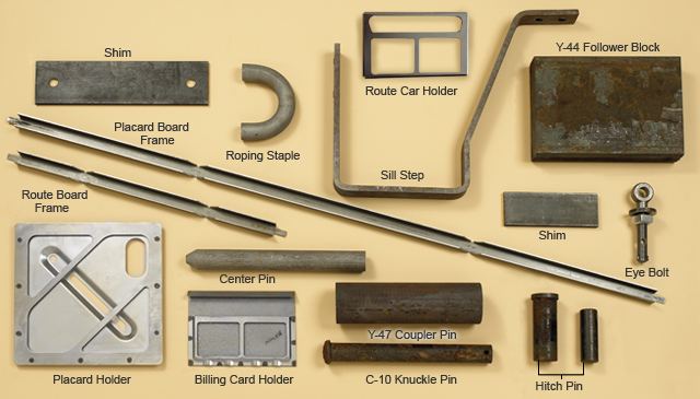 Image of freight car parts